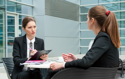 professional having interview
